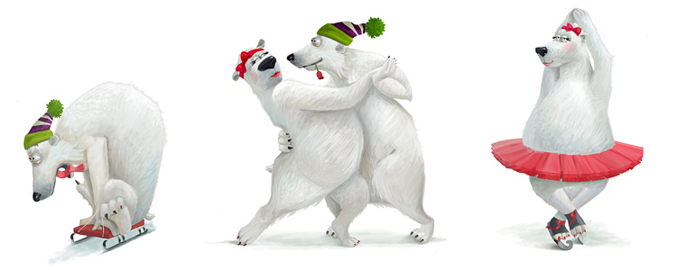 White bears for The World Christmas Tree