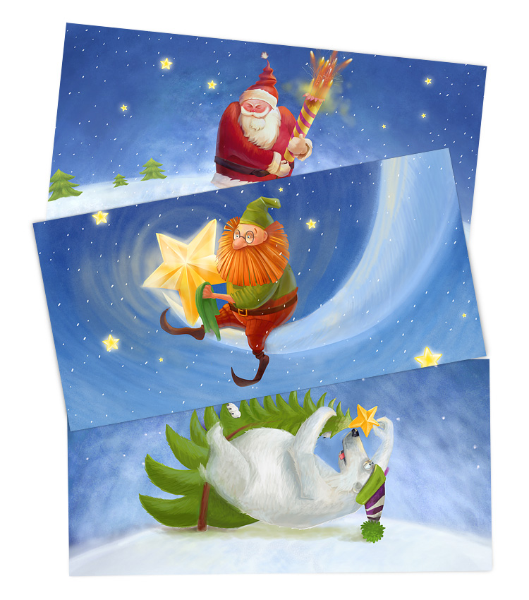 New year post cards for The World Christmas Tree project
