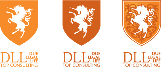 DLL Top Consulting all colour versions of the logo