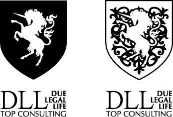 DLL Top Consulting black and white version of the logo