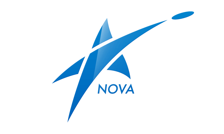 Logo for an ultimate frisbee team NOVA (blue)
