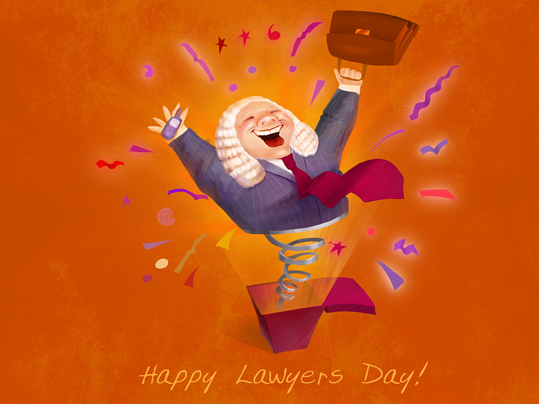 Post card for the Lawyers Day from Spenser & Kauffmann Company