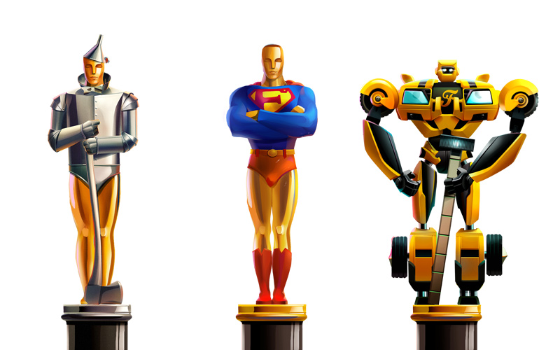 Statuettes Awarded under the Project unshared.tv
